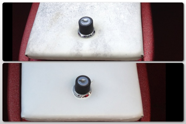 before and after painting of the boat glove box
