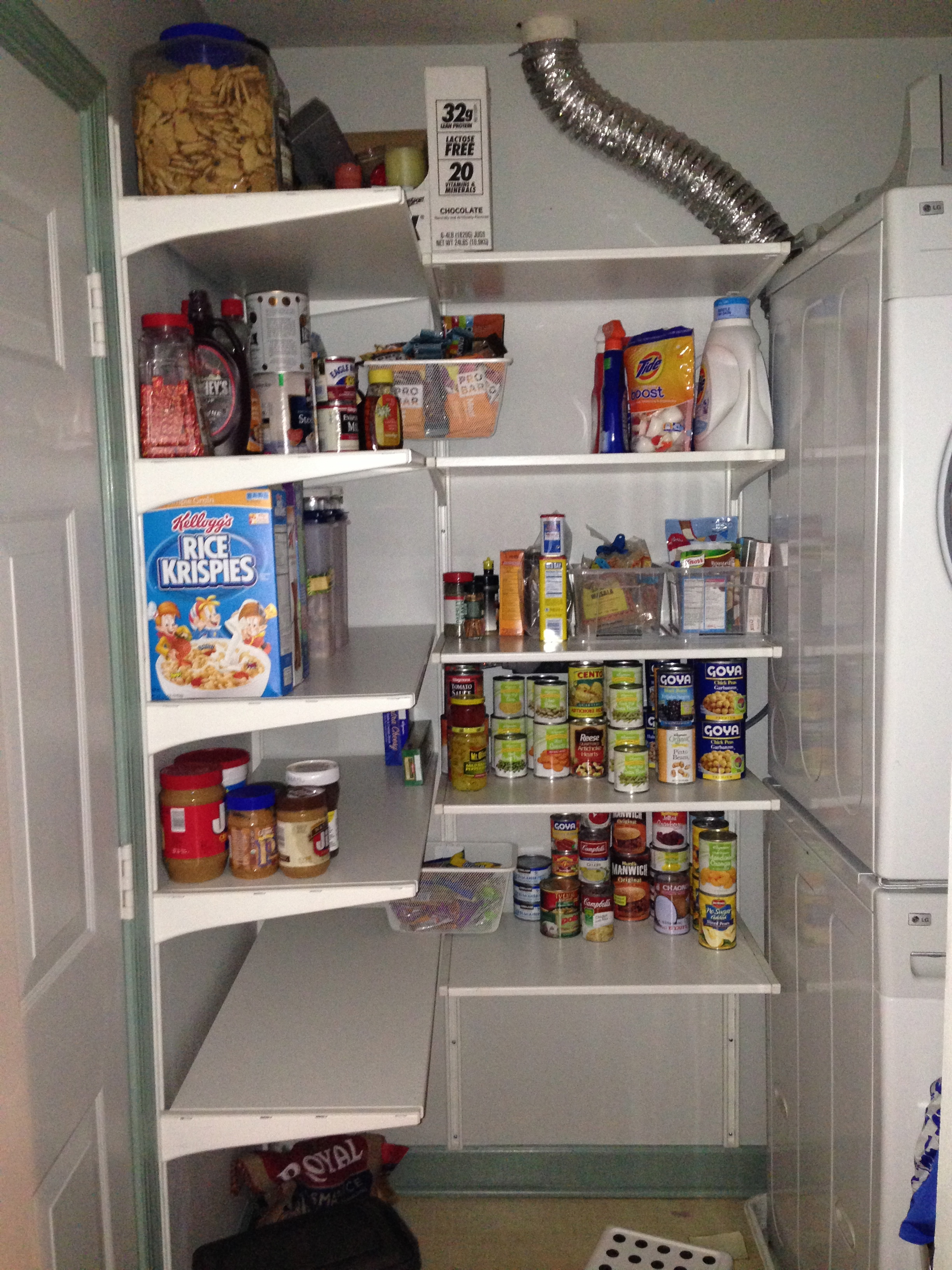 closet door makeover ideas - My new pantry Saved by Scottie